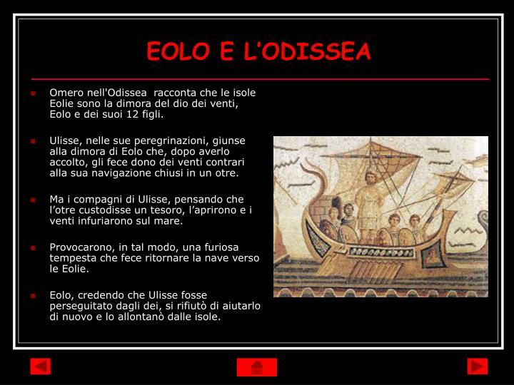 EOLO E L'ODISSEA