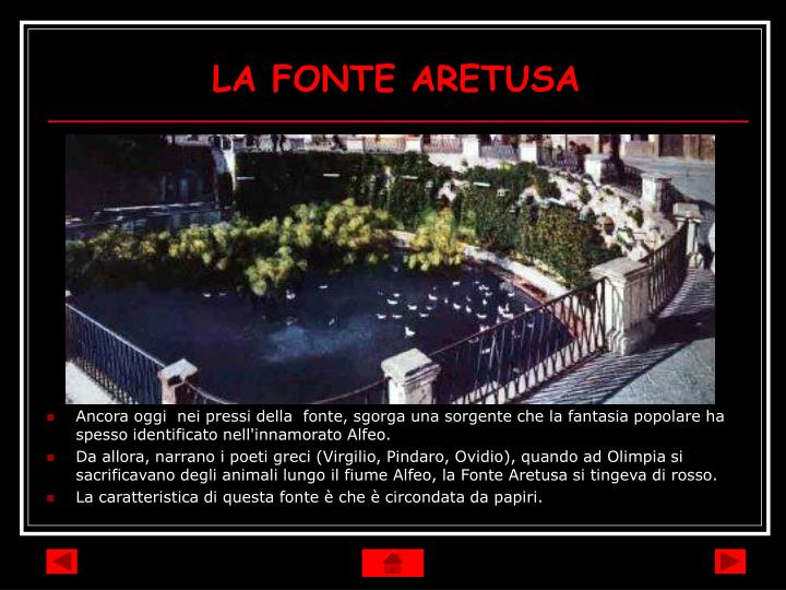 LA FONTE ARETUSA