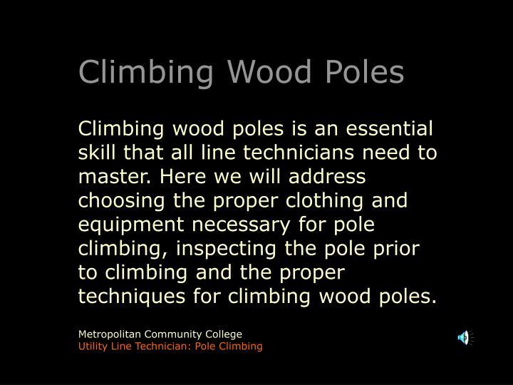 Climbing Wood Poles