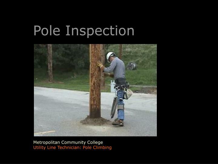 Pole Inspection