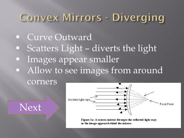 Convex Mirrors - Diverging