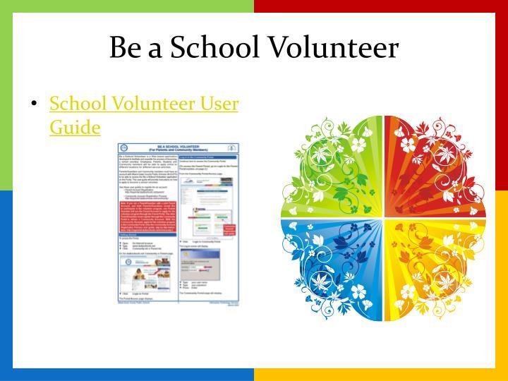 Be a School Volunteer
