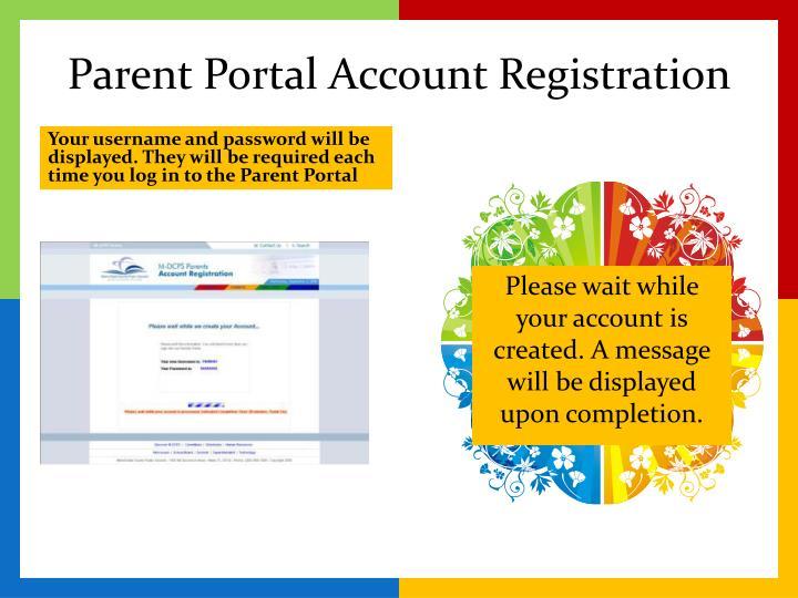Parent Portal Account Registration