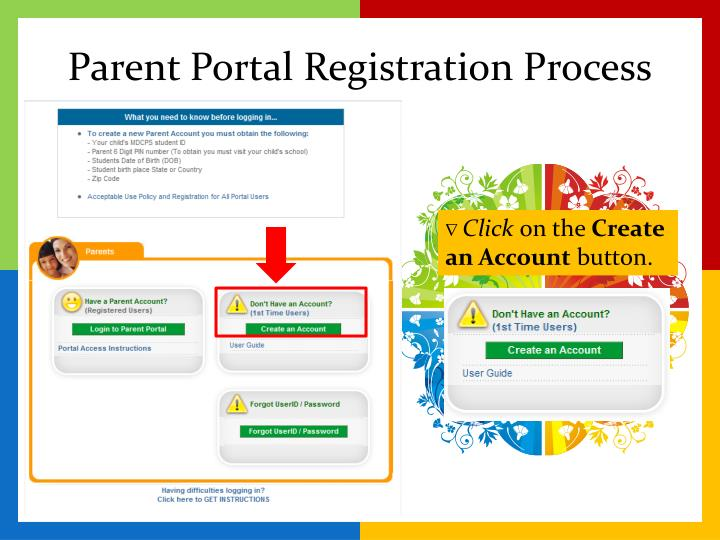 Parent Portal Registration Process