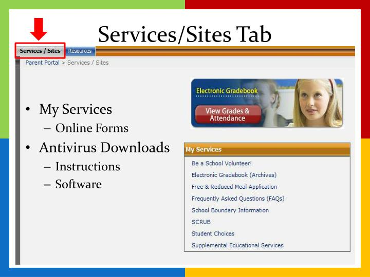 Services/Sites Tab