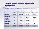 uwagi w sprawie ustalania regulamin w wynagrodze9