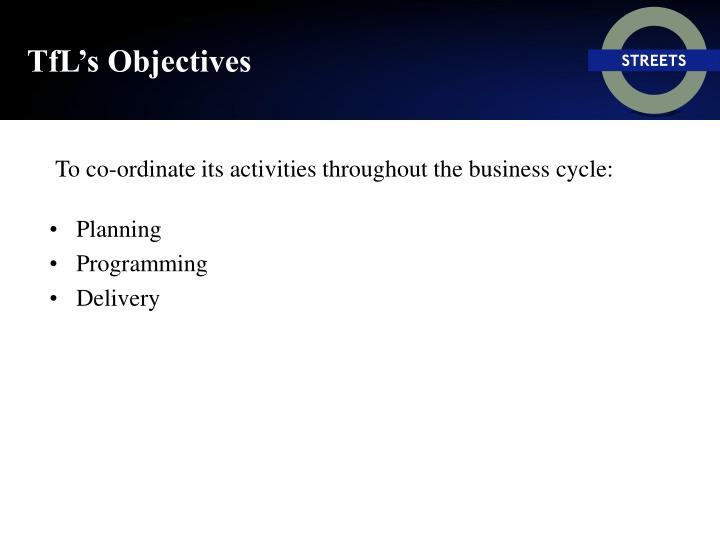 TfL's Objectives
