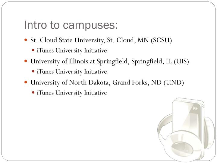 Intro to campuses: