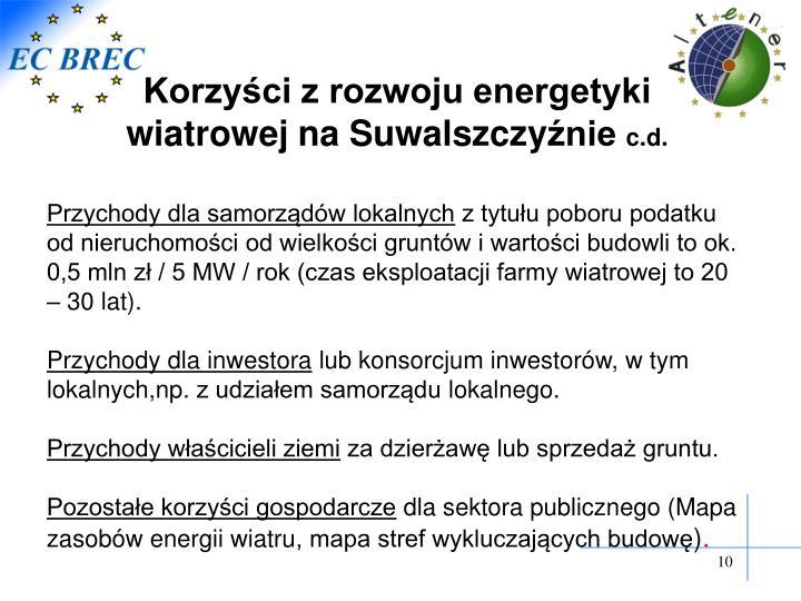 Korzyści z rozwoju energetyki