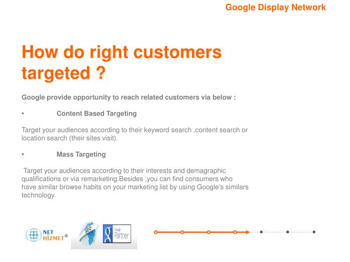 How do right customers targeted ?