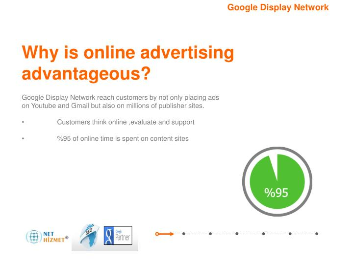 Why is online advertising advantageous?
