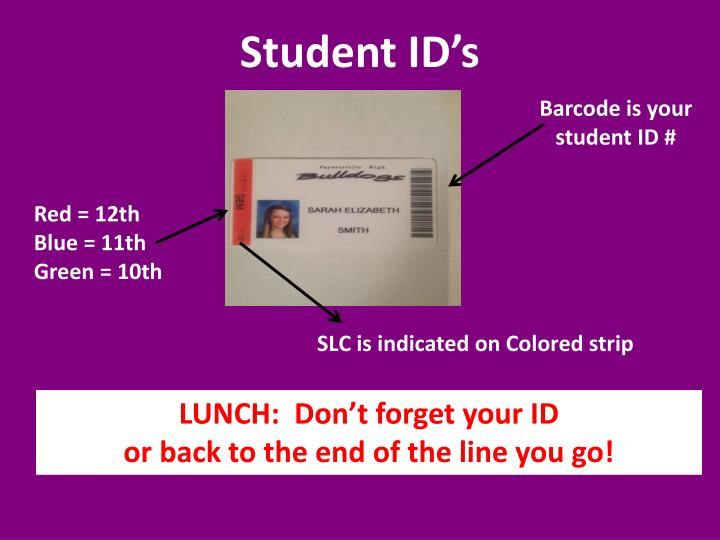 Student ID's