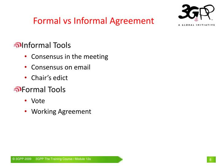 Informal Agreements Vs Formal Contracts Mandegarfo