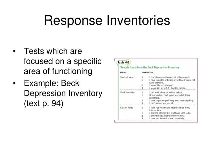 Response Inventories