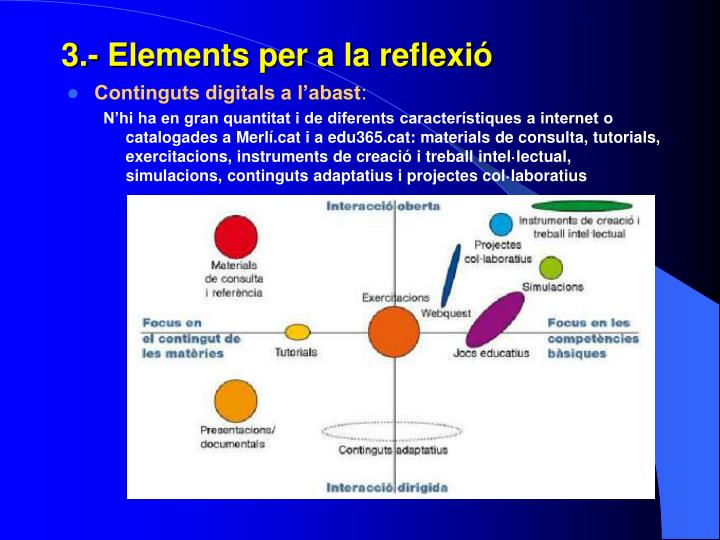 3.- Elements per a la reflexió