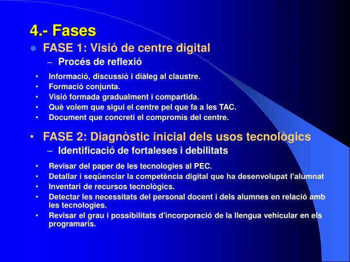 4.- Fases