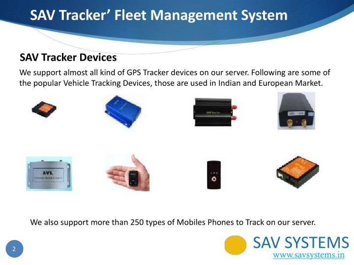 SAV Tracker'