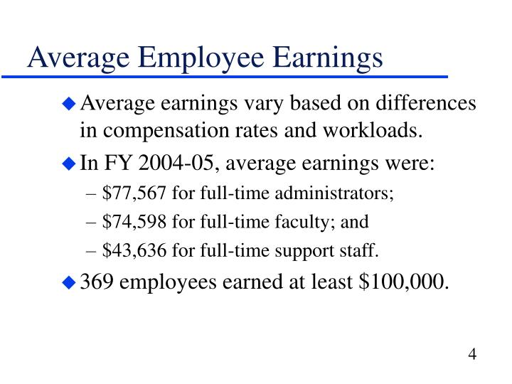 Average Employee Earnings