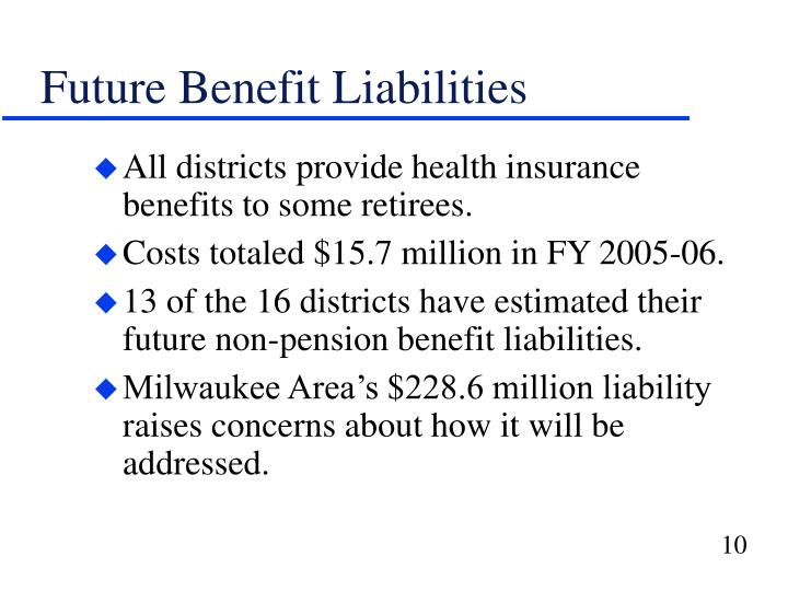 Future Benefit Liabilities