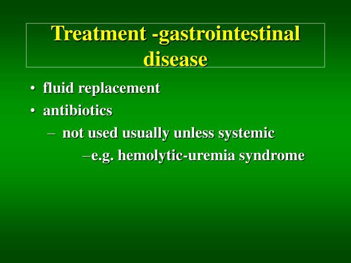 Treatment -gastrointestinal disease