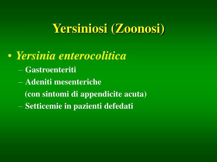 Yersiniosi (Zoonosi)