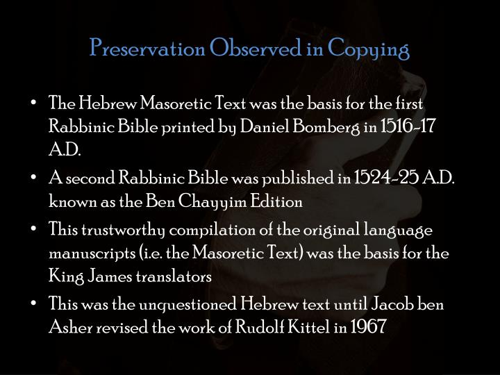 Preservation Observed in Copying