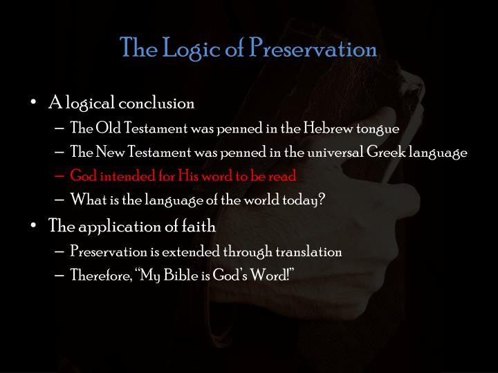 The Logic of Preservation