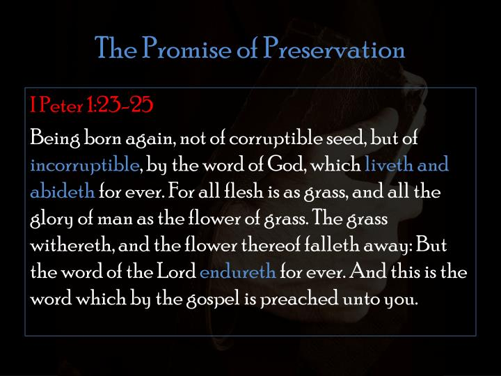 The Promise of Preservation