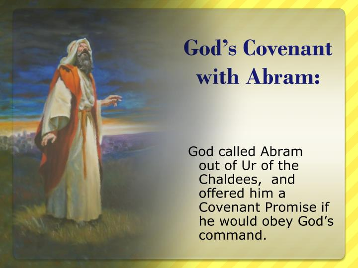 God's Covenant with Abram: