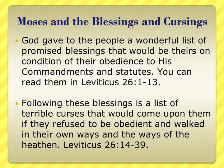 Moses and the Blessings and