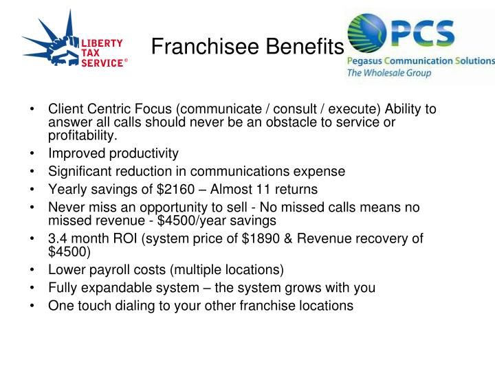 Franchisee Benefits