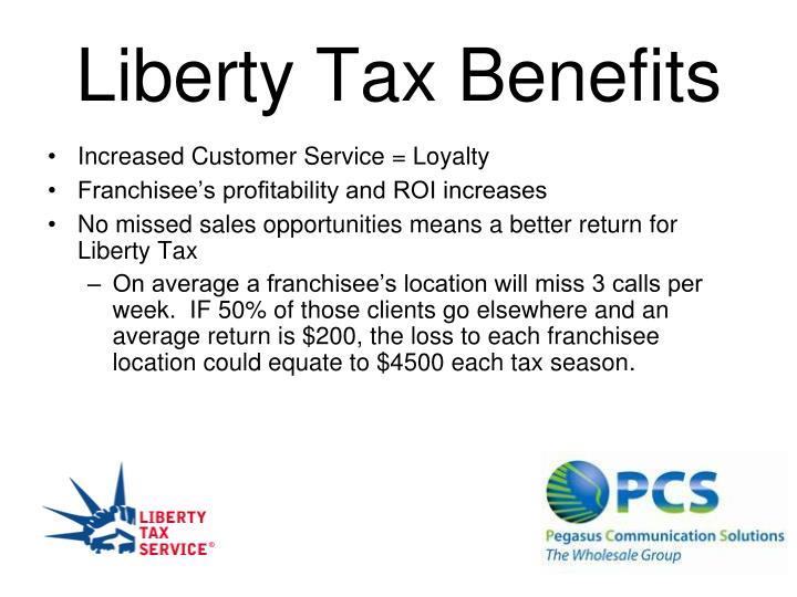 Liberty Tax Benefits