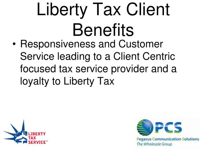 Liberty Tax Client Benefits