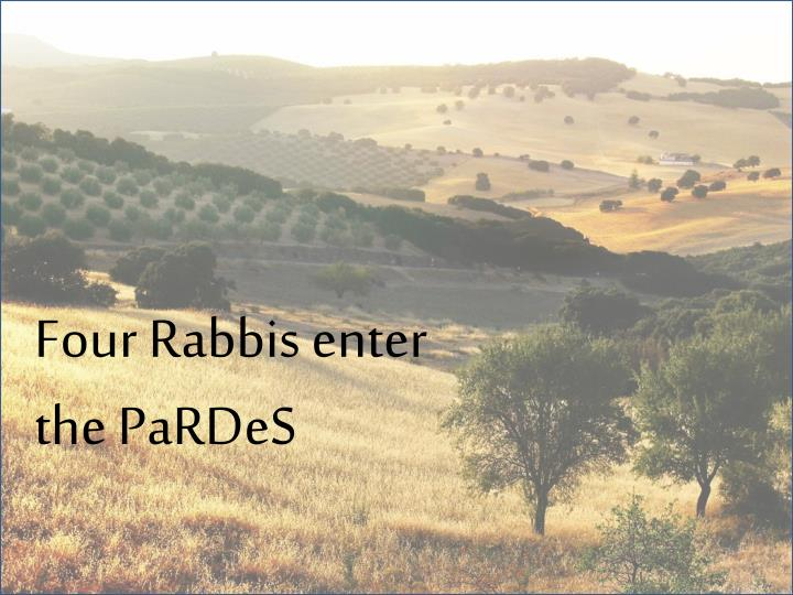 Four Rabbis enter the