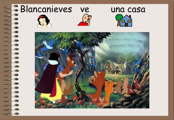 Blancanieves   ve        una casa