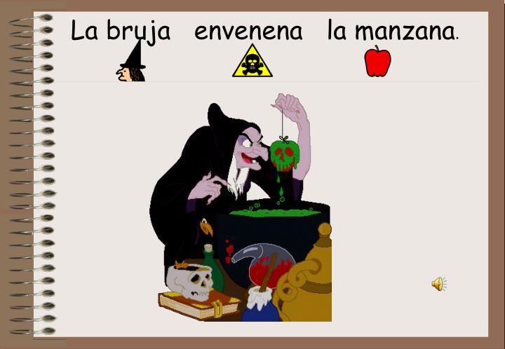 La bruja   envenena   la manzana