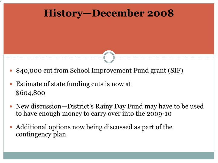 History—December 2008