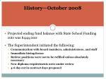 history october 20081