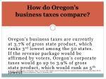 how do oregon s business taxes compare