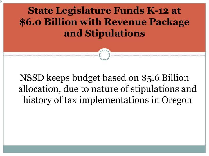 State Legislature Funds K-12 at