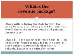what is the revenue package