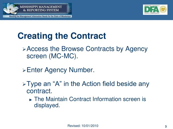 Creating the Contract