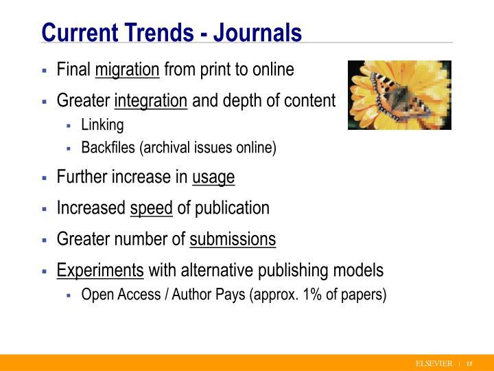 Current Trends - Journals