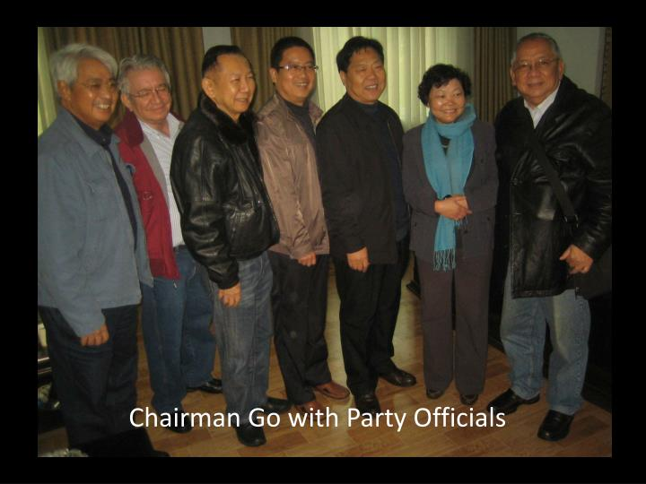 Chairman Go with Party Officials