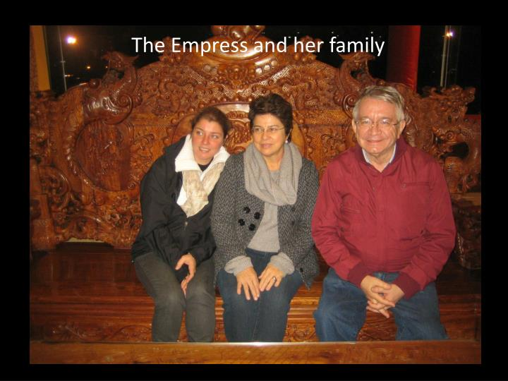 The Empress and her family