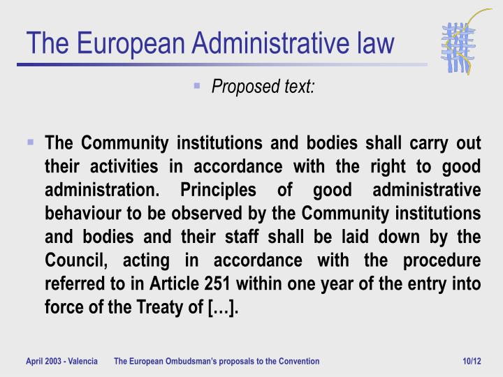 The European Administrative law