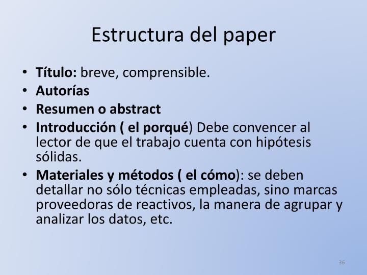 Estructura del