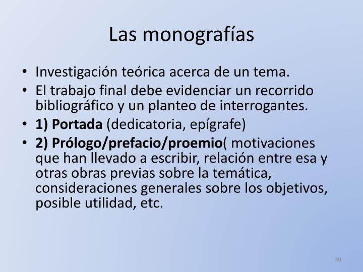 Las monografías