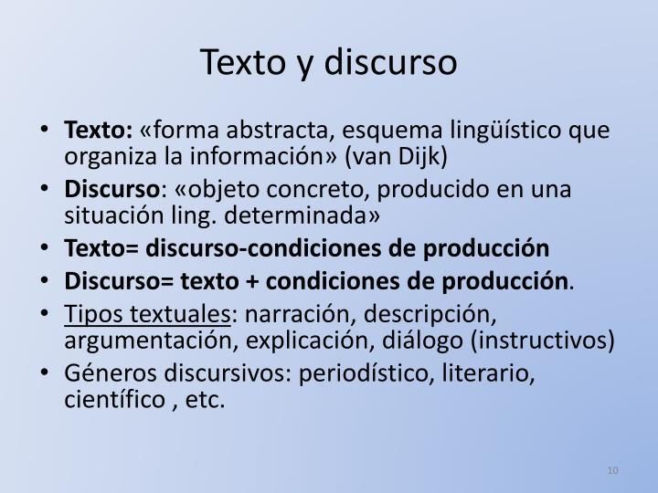 Texto y discurso