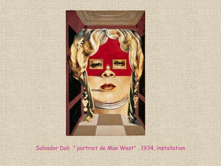 "Salvador Dali  ""portrait de Mae West"" , 1934, installation"